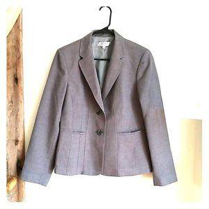 Kasper gray blazer jacket 12